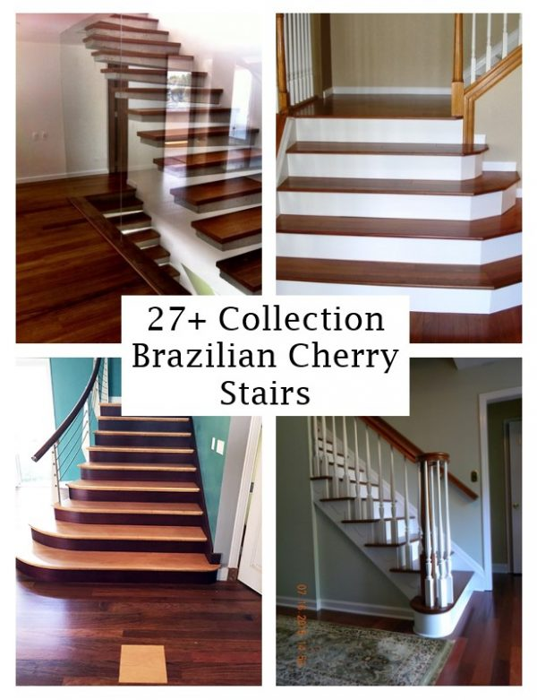 click the images for more details about brazilian cherry stairs medium