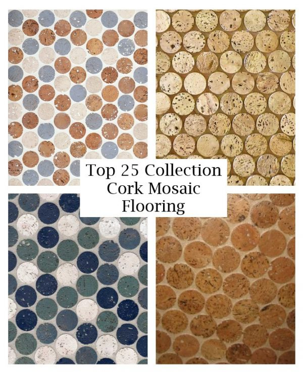 click the images for more details about cork mosaic flooring medium