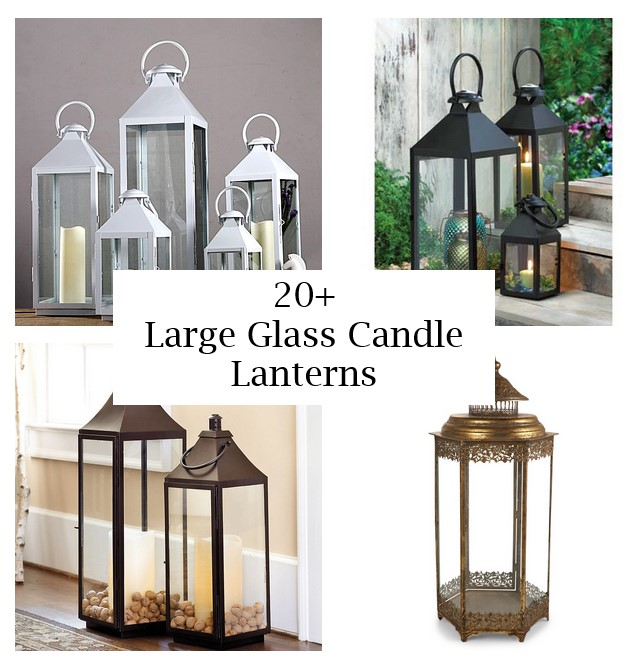 click the images for more details about large glass candle lanterns medium