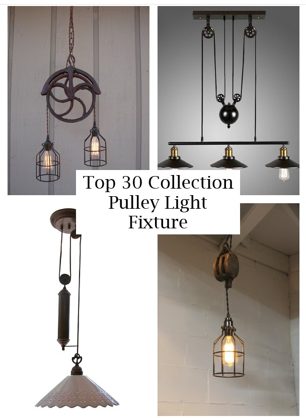 click the images for more details about pulley light fixture medium