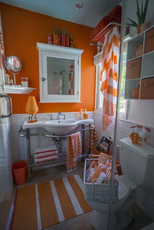 25  Best Ideas About Orange Bathrooms On Medium