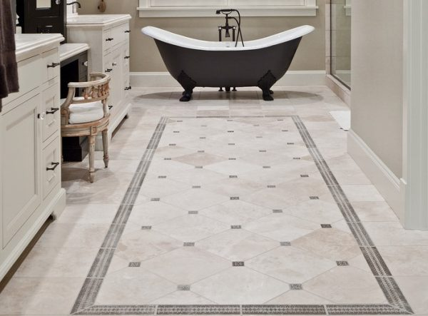 Example Of A Vintage Bathroom Floor Tile Ideas Before You Start Your Medium
