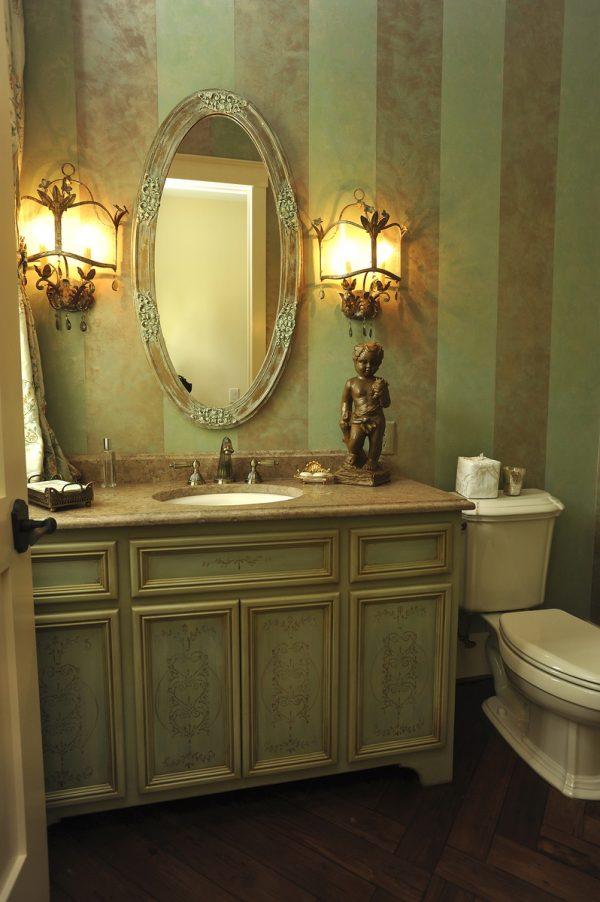 Fresh Bathroom Divine Bathroom Decorating Ideas Using Powder Medium