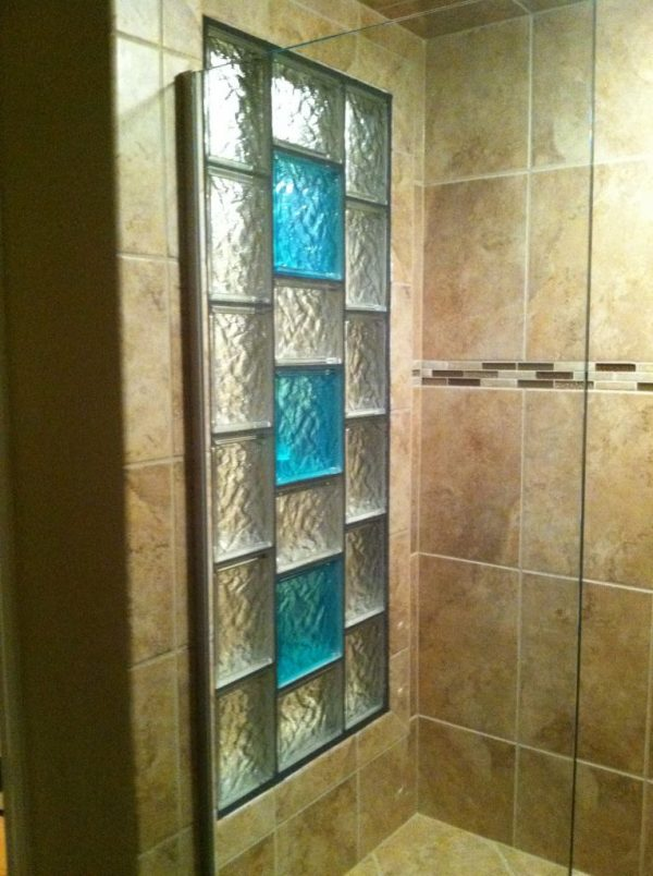 Fresh Decorative Glass Block Borders For A Shower Wall Or Windows Medium