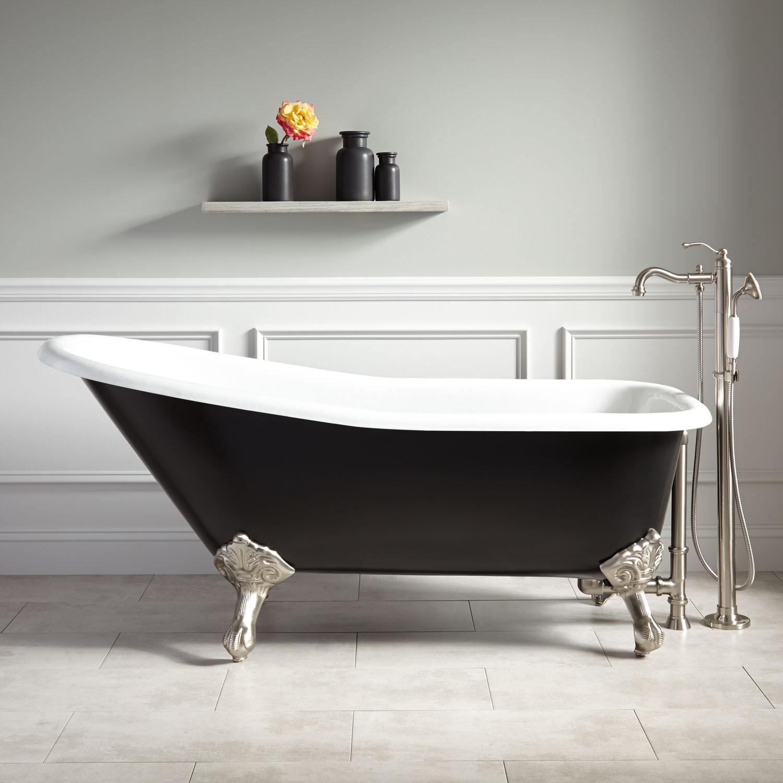 get 66 goodwin cast iron clawfoot tub imperial feet black