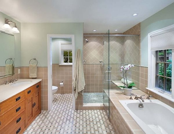 Inspiration Beautiful Bathroom With Shower And Tub Decoist Medium