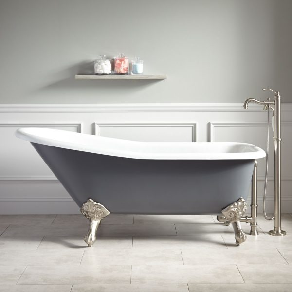 Inspirational Bathroom Stainless Steel Sink With Wainscoting Also Grey Medium