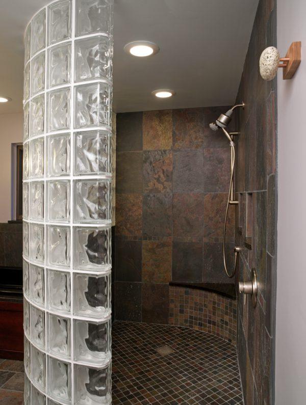 Looking Designing Custom Glass Block Showers Medium