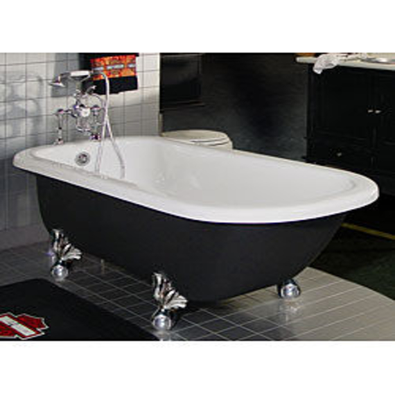 Style Oversized Clawfoot Tub Painted Clawfoot Tub Gray Custom Medium