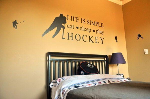 18 Unique Hockey Bedroom Design Ideas For Teenage Guys Medium