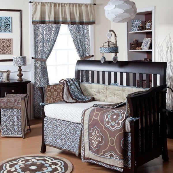 8pc Cocalo Corlu Boy Modern Designer Nursery Crib Bedding Medium