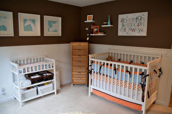 Aqua Brown Orange Boys Nursery Designclick Here For Medium