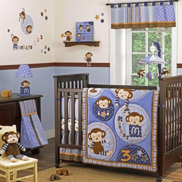 Baby Nursery Gorgeous Baby Room Decoration With Dark Brown Medium