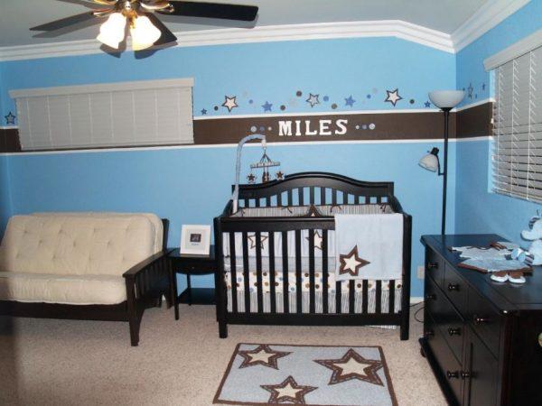 Baby Room Enchanting Blue And Brown Baby Nursery Room Medium