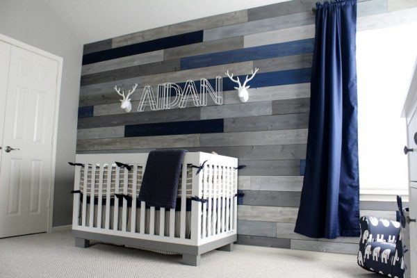 Browse Modern Navy And Grey Rustic Nursery Project Nursery Medium
