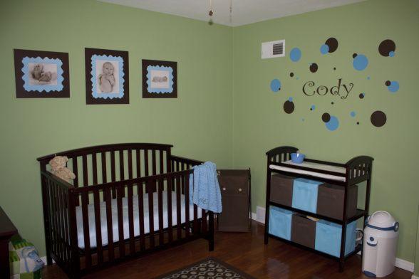 Green Nursery Ideasgreen Blue   Brown Nursery Medium
