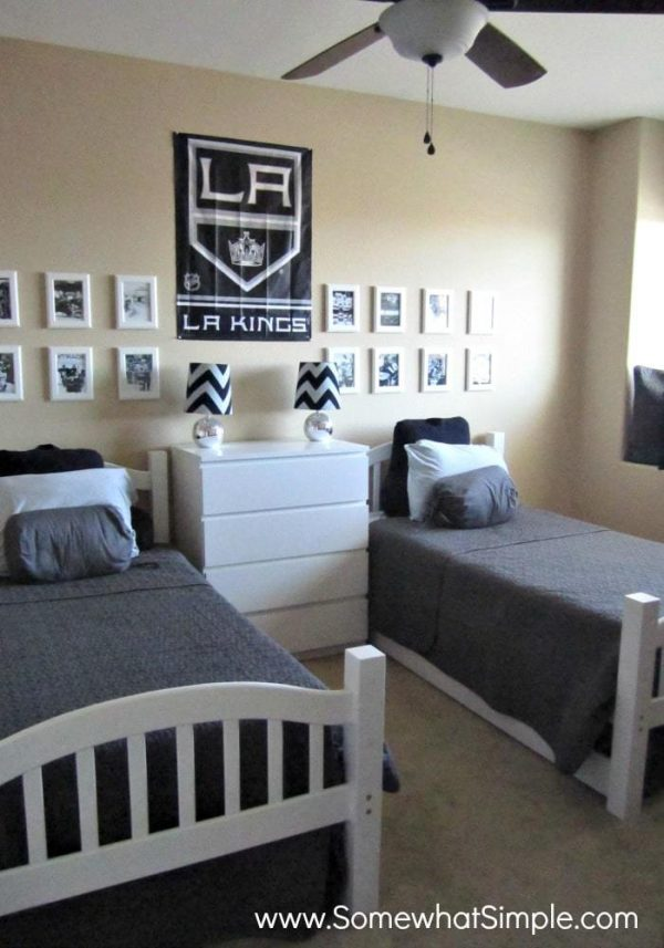 He Shoots He Scores Boys Hockey Bedroom Somewhat Simple Medium