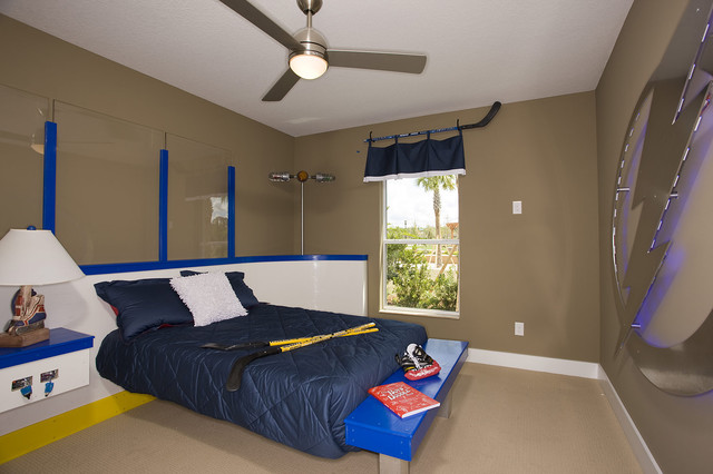 hockey room eclectic kids tampa by cardel homes