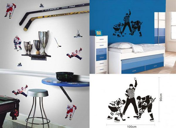 Hockey Themed Bedrooms Can Be Alluring  Design One For Medium