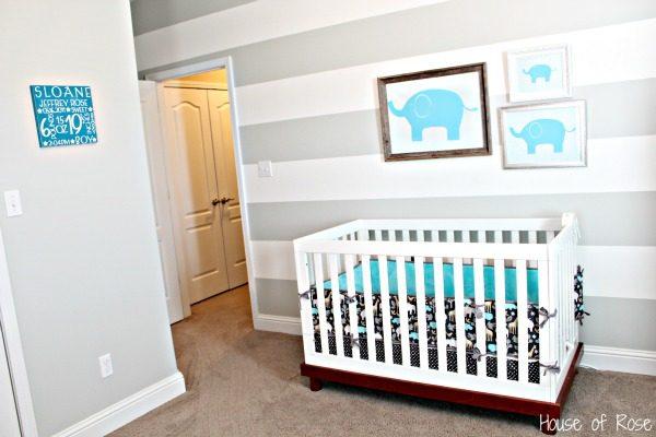 Innovative Nursery Ideas Gray And White Medium