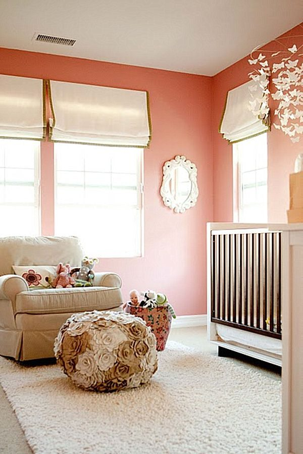 Popular Modern Baby Room Ideas For Girls For Mom To Be Peach Wall Medium
