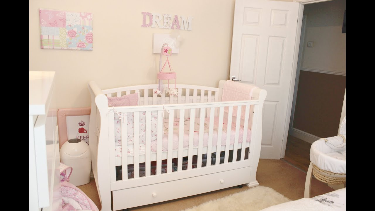 search baby girl nursery   room tour youtube