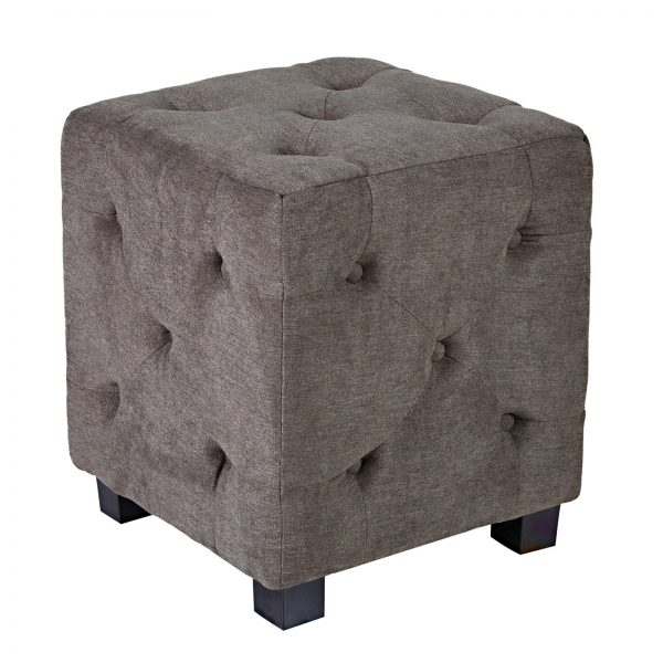 Bore Angelohome Duncan Parisian Small Tufted Cube Smoky Gray Medium
