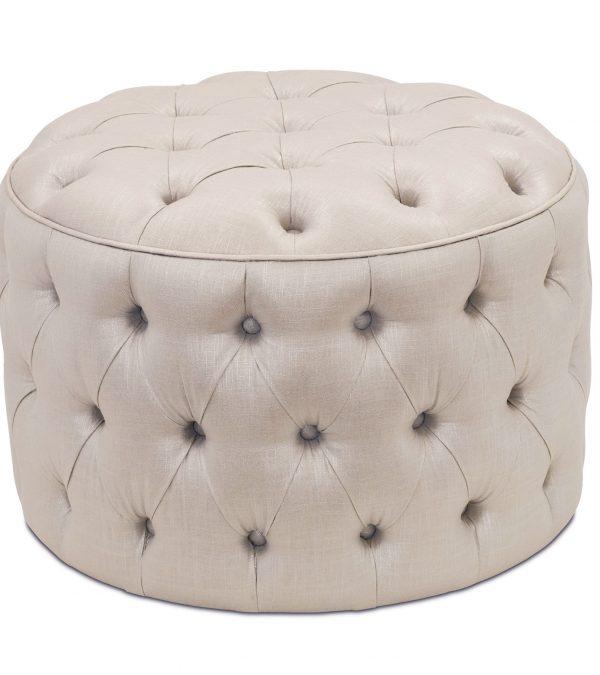 Example Of A Small Round Tufted Ottomanhome Design Ideas Medium