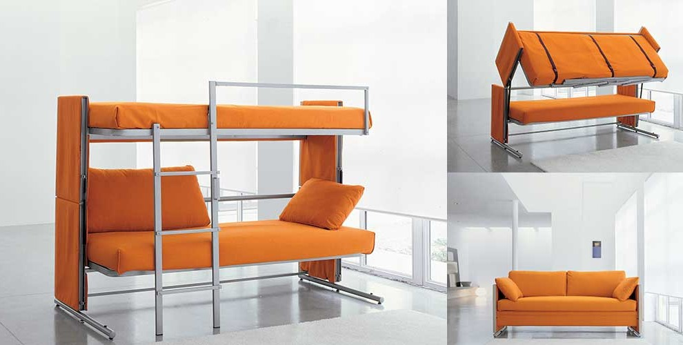 fresh convertible bunkbed couch folds out into a doubledecker bed