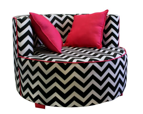 Furniture Pictures Zebra Print Saucer Chair With Re Pillow Medium