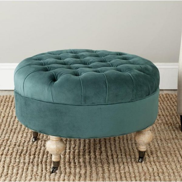 Inspiration Small Round Ottoman Giving Extra Update In Your Home Decor Medium