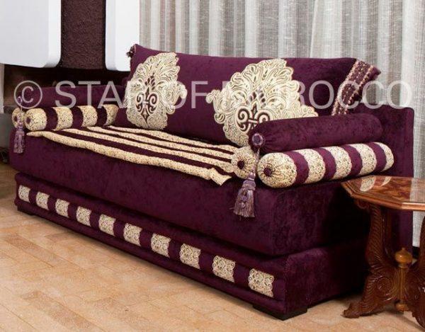 Inspirational Royal Purple Gold Moroccan Sofamoroccan Design Medium