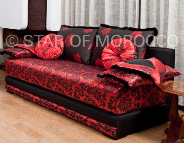 Perfect Red Modern Moroccan Living Room Medium