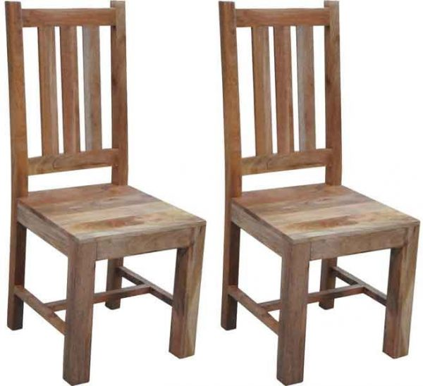 Popular Buy Jaipur Dakota Light Mango Wood Dining Chair Pair Medium