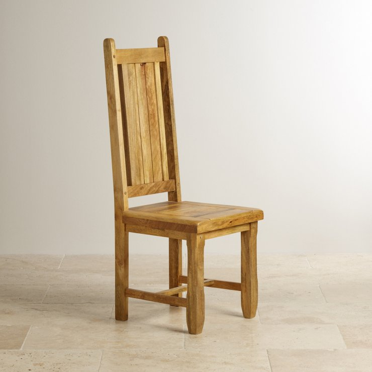 style baku light dining chair in natural solid mango wooden seat