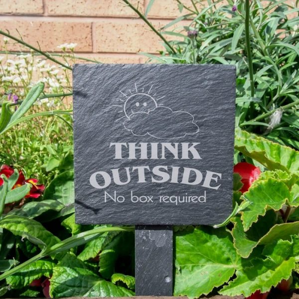 Bore Slate Plant Marker Think Outside No Box Required Medium
