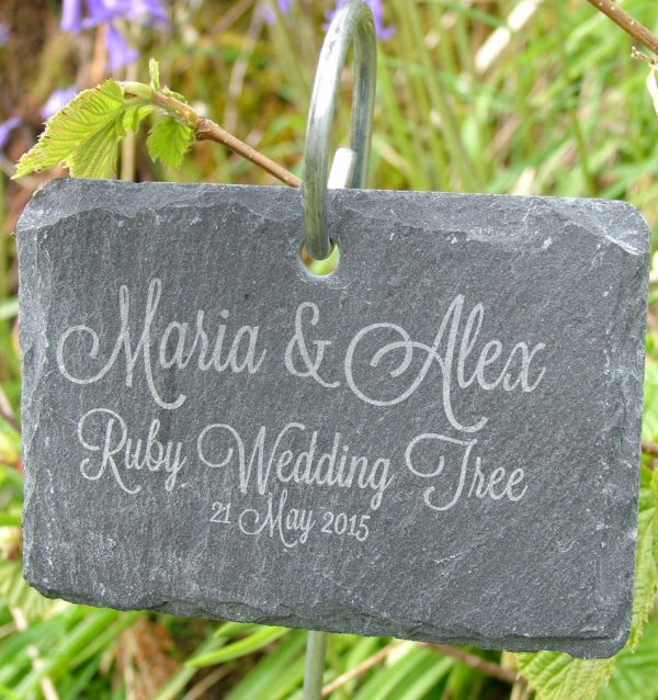 Collection Personalised Hanging Slate Plant Marker By Seahorse Medium