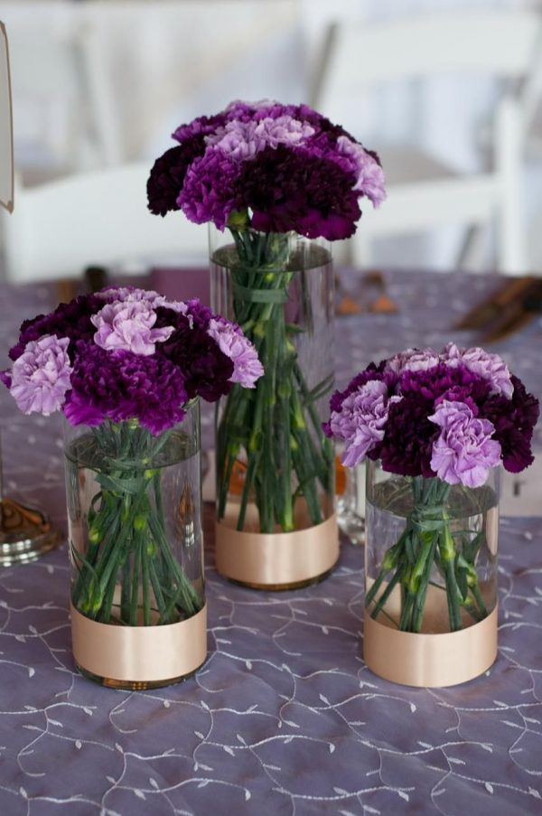 Example Of A Trio Of Cylinder Vases With Varying Shades Of Purple Medium