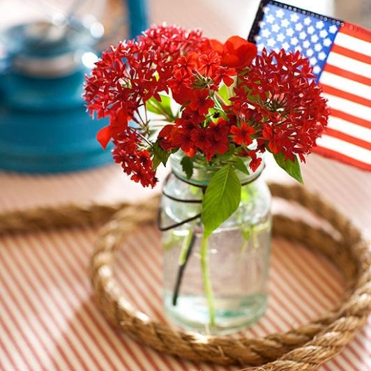 Get 12 Easy Patriotic Centerpiece Ideas  Cheap July 4th Medium