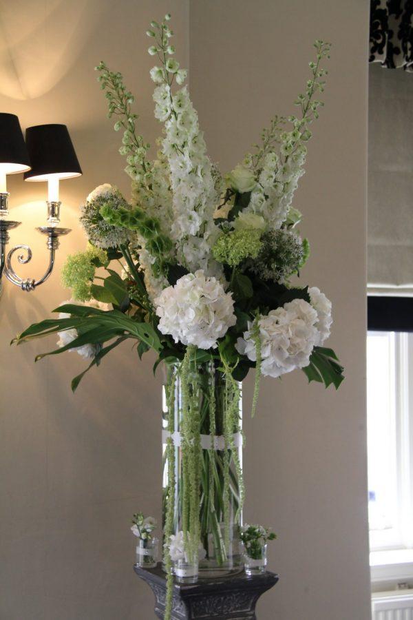 Innovative Flower Design Wedding Ceremony Styling Tall Column Shaped Medium