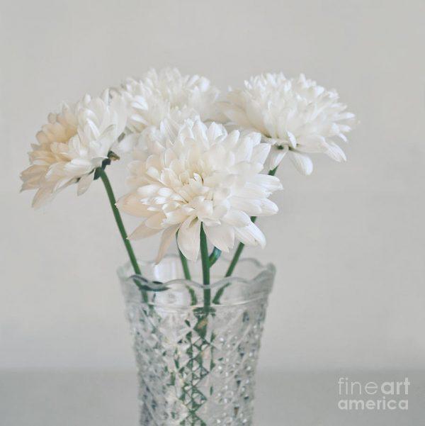 Our Favorite White Flowers In Tall Vase Medium