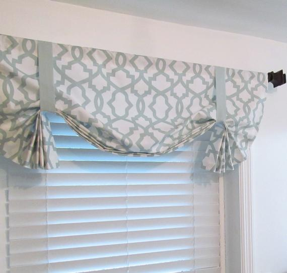 Clever Items Similar To Custom Made Tie Up Curtain Valance Snowy Medium