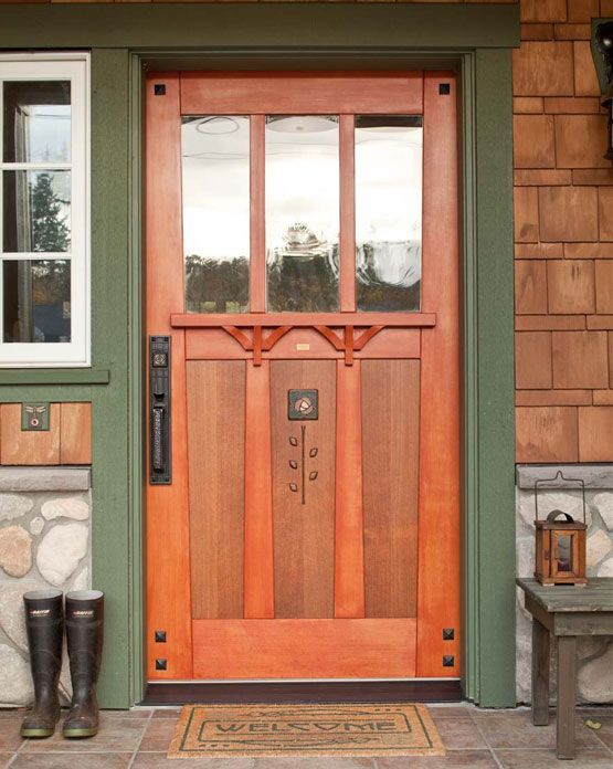 Clever 17 Best Images About Front Doors On Craftsman Medium