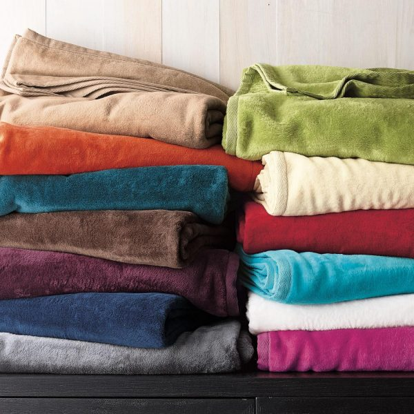 Best Cotton Fleece Blanket And Throwthe Company Store Medium