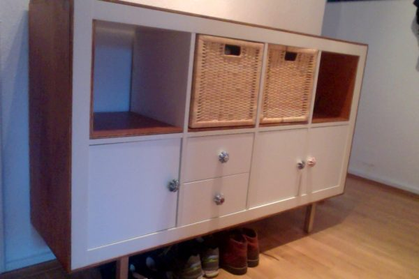 Best Ikea Expedits Bold New Look With Plywood Trim Ikea Hackers Medium