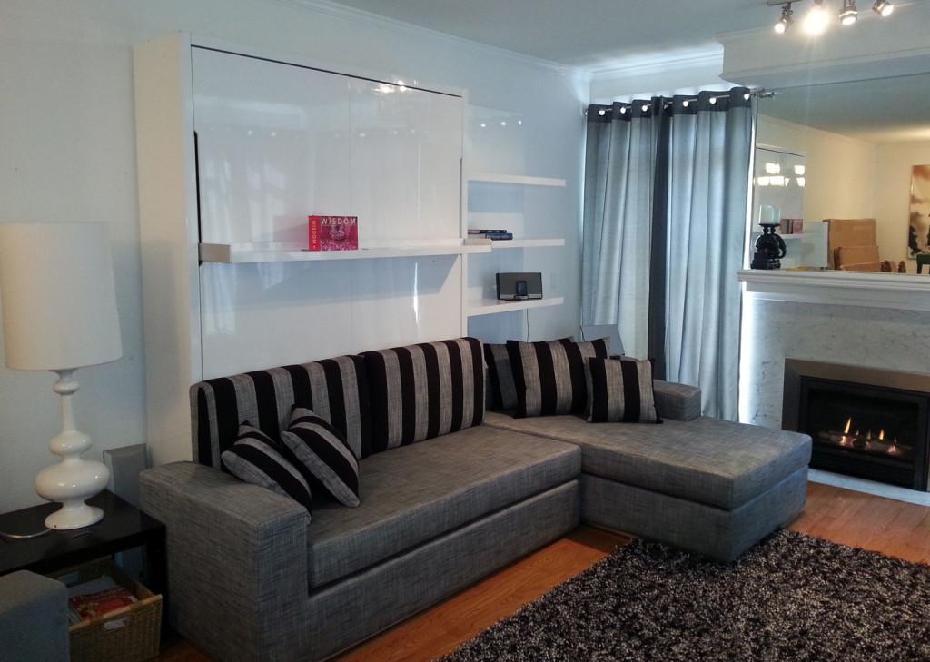 best wall bed sofa combination from murphysofa gas mechanism