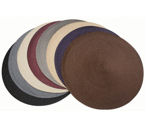 Bore Fine Woven Round Placemats 15 Diameter Table Dinner Medium