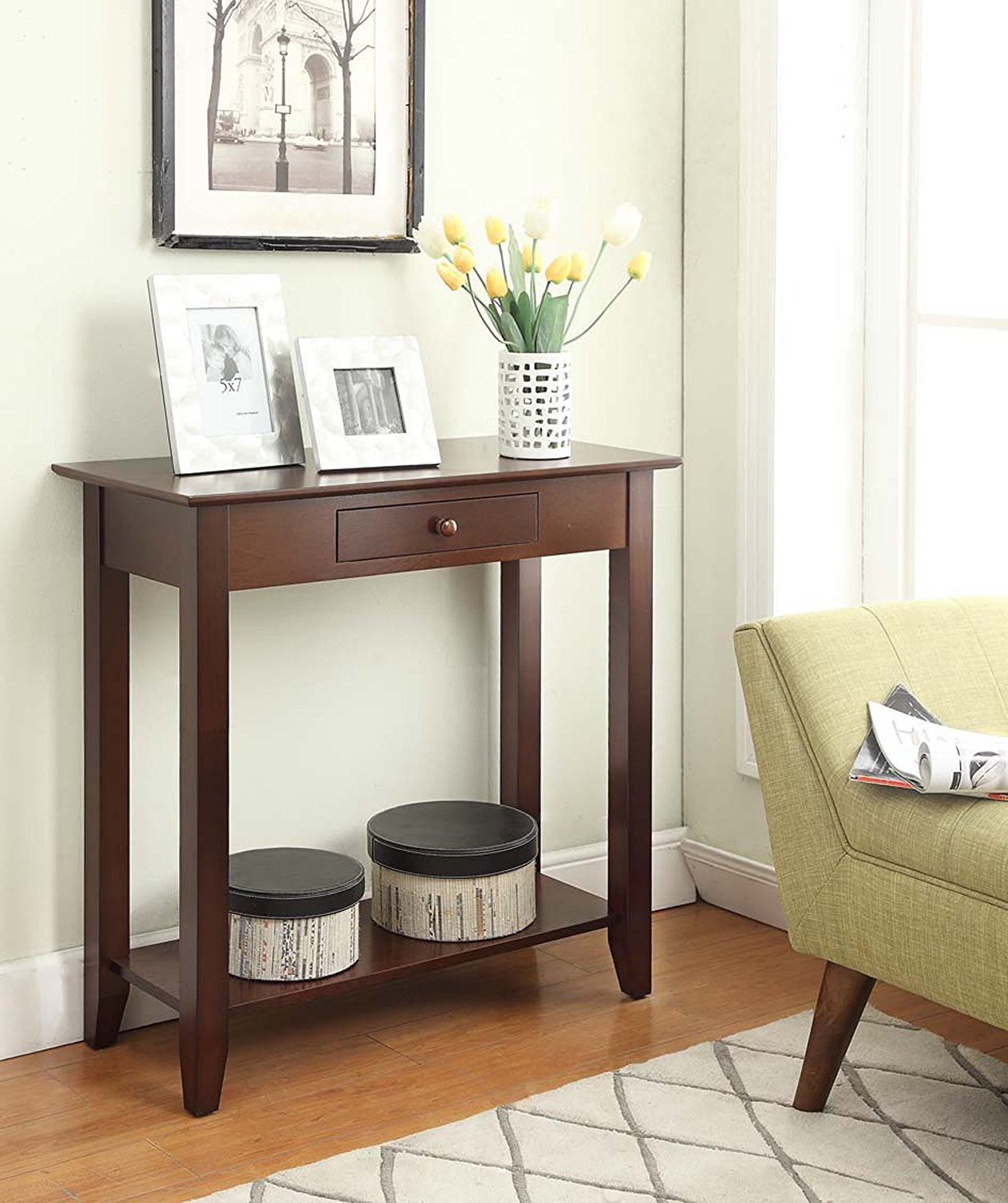 clever tall entryway table drawer  home designspectacular