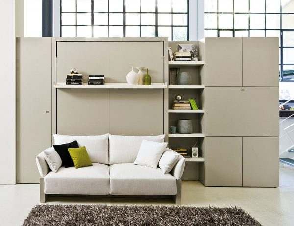 clever transformable murphy bed over sofa systems that save up on medium
