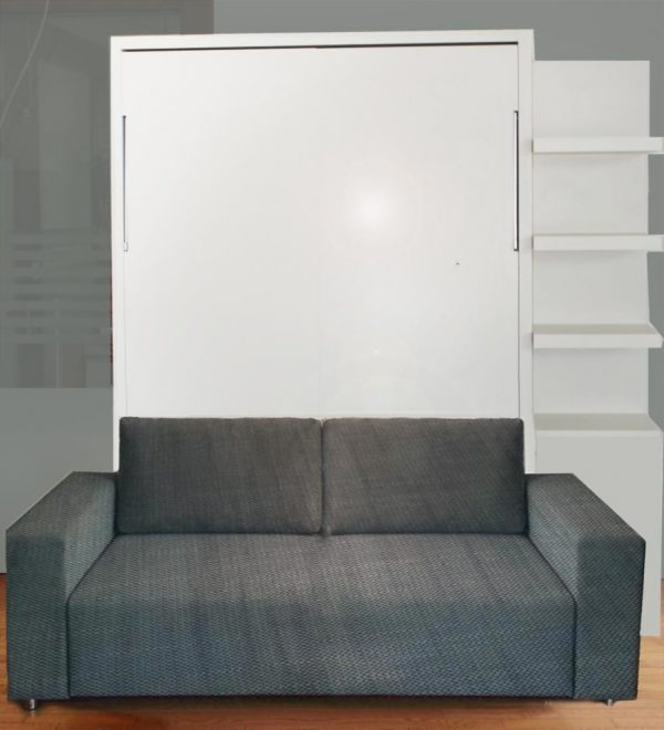 Clever Wall Bed With Sofa Gloss Finish Ultra Light Vancouver Medium